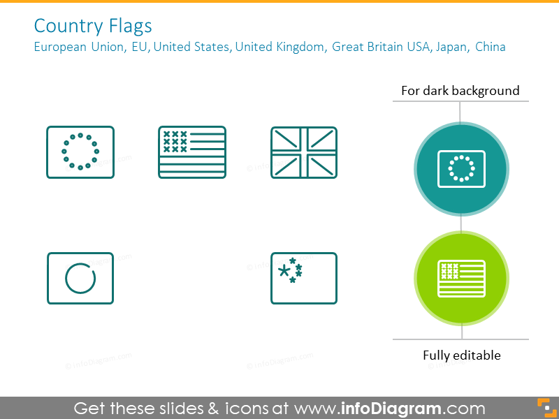 Country flags: European Union, EU, United States,