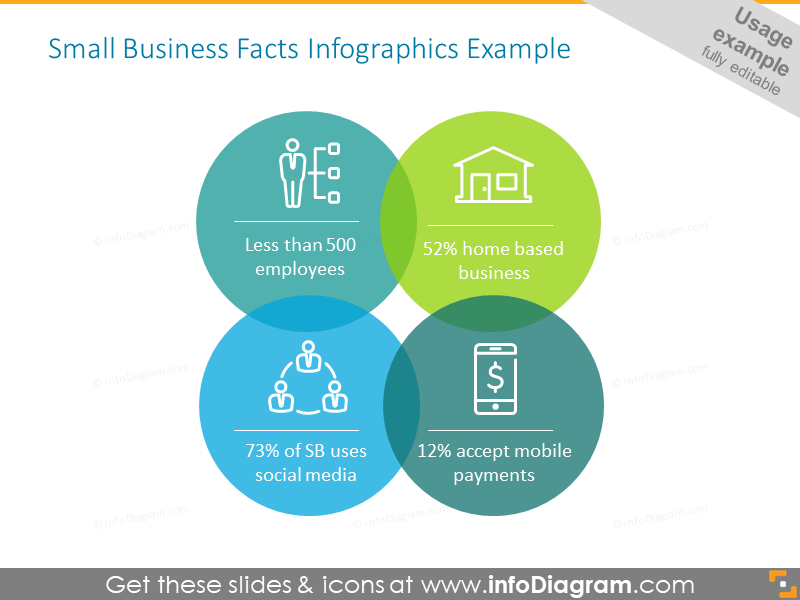 Business facts infographics diagram