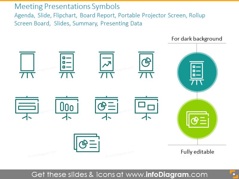 Flipchart outline symbols