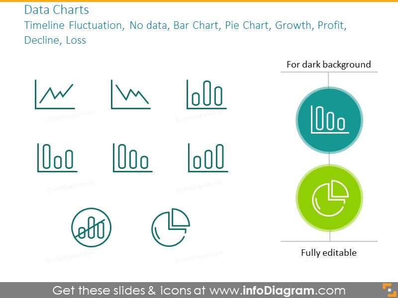 Data chart outline symbols