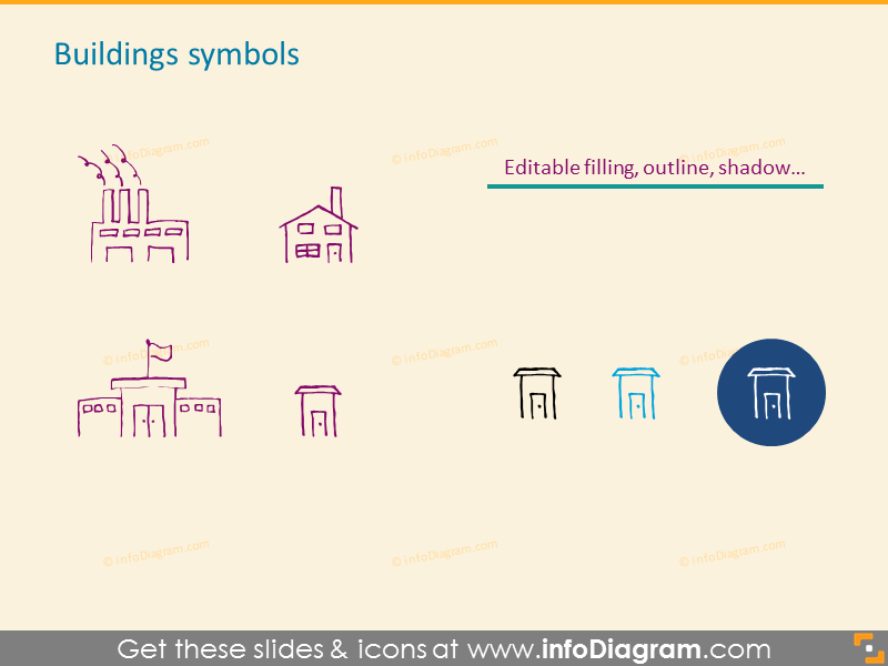 Buildings symbols