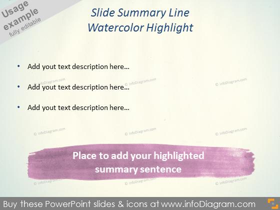 Watercolor Highlight bottom line ppt clipart brush shape