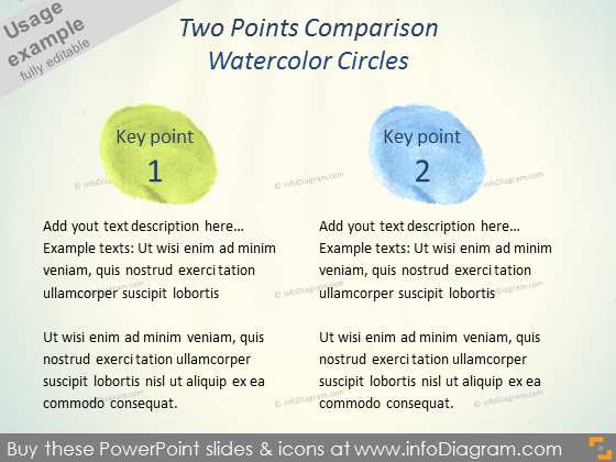 Watercolor circle Aquarelle key point powerpoint icon