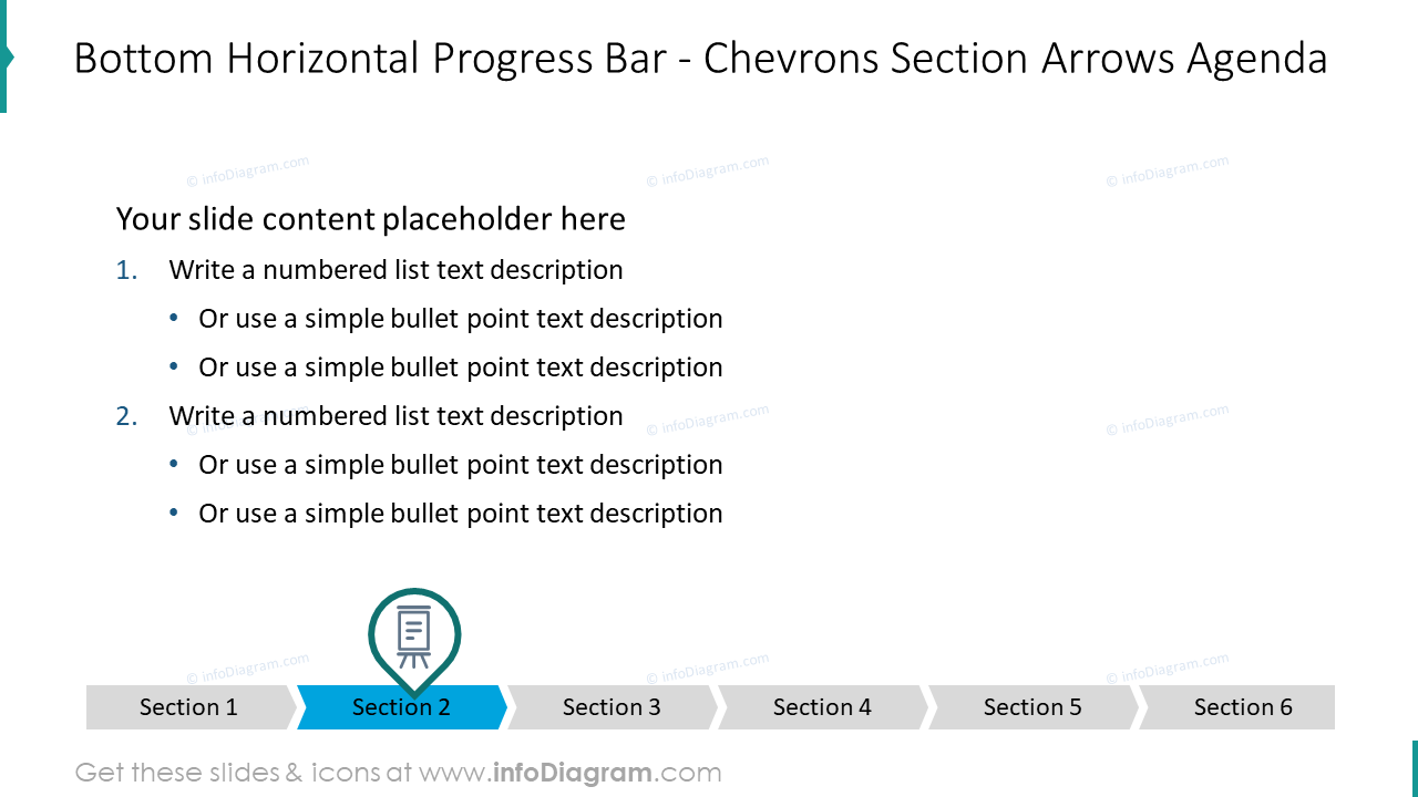 Bottom horizontal progress bar