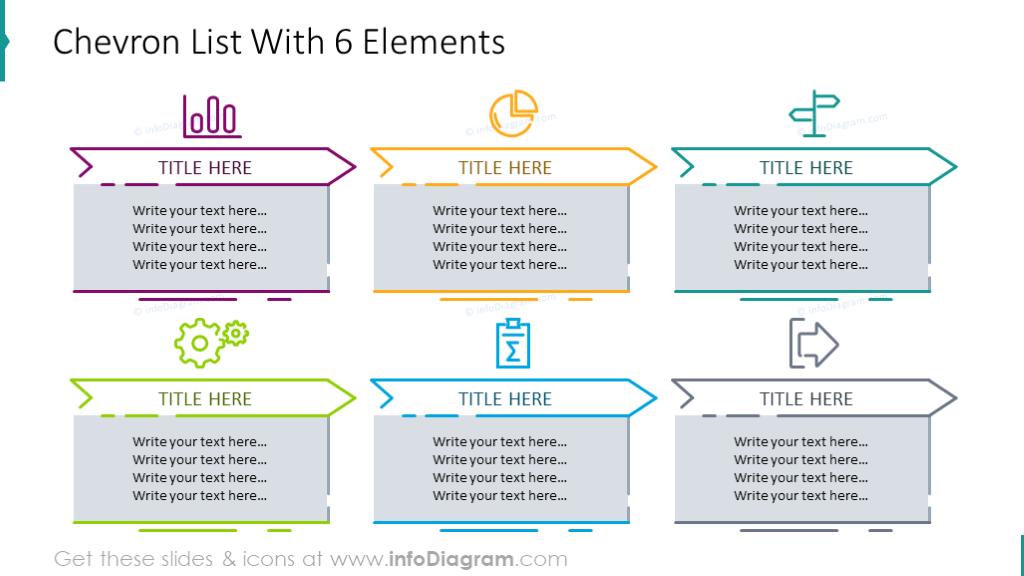 6 elements chevron list
