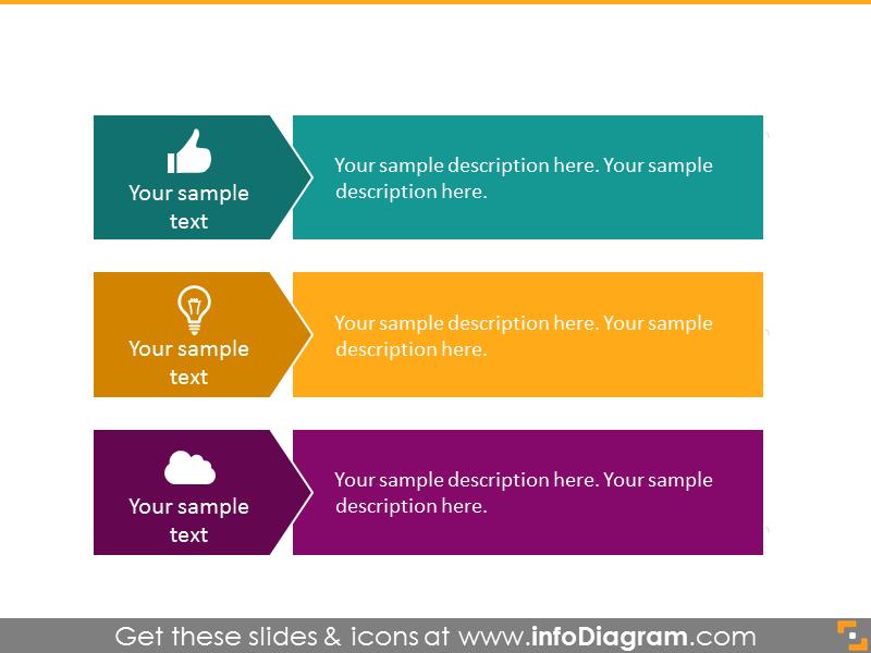3 items bulletpoint diagram infographics  powerpoint