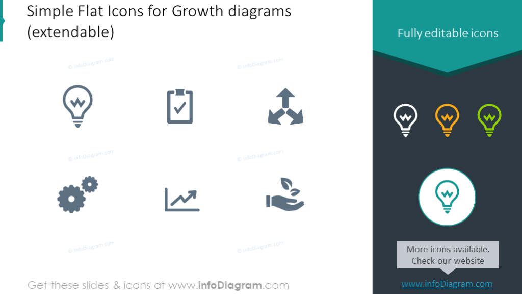 Flat icons growth shapes