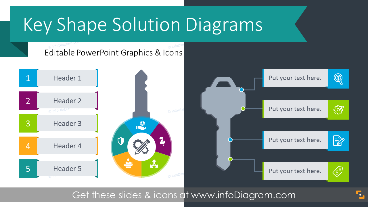 27 modern key infographics flow charts for presenting