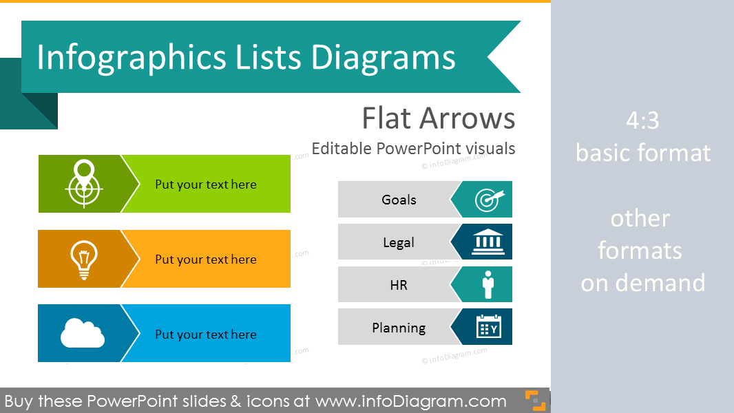 Infographics list ppt arrow diagrams icon pictogram flat powerpoint infographics arrows lists template flat ppt diagrams ccuart Choice Image