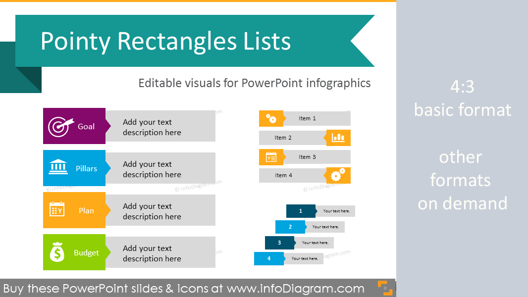 Infographic Template List Diagram Powerpoint Pointed