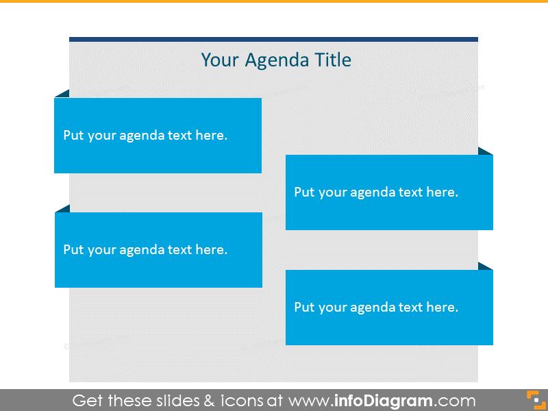 Flat Agenda List for 4 items