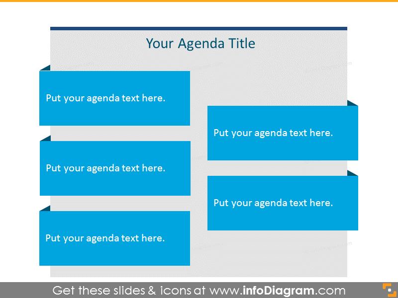 Flat Agenda List for 5 items