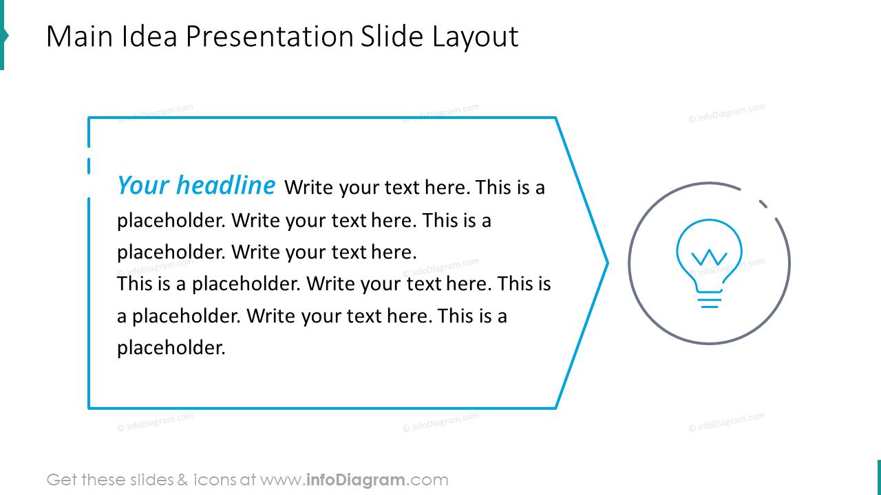 Main idea presentation slide layout