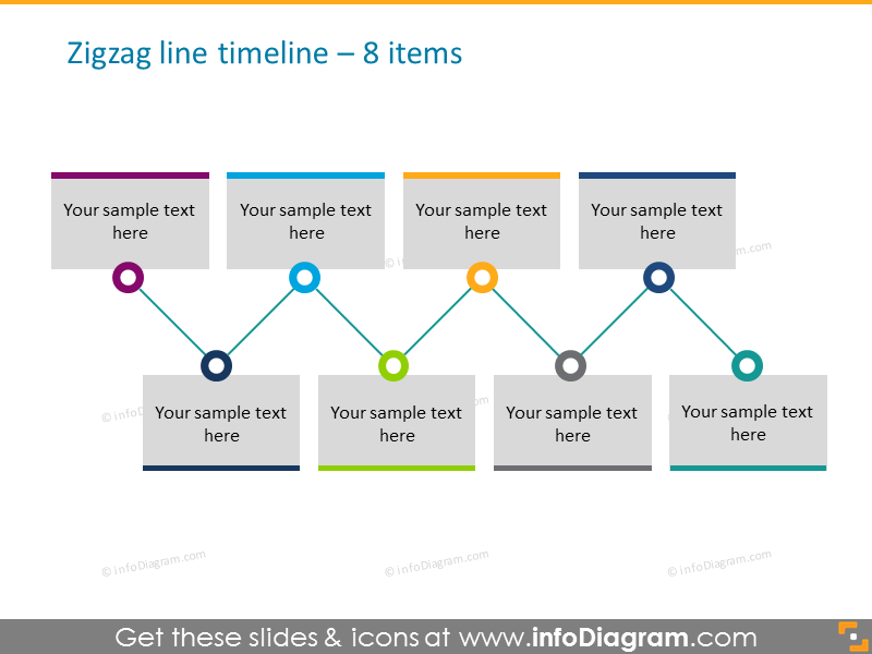 historytimeline template 8 elements in line