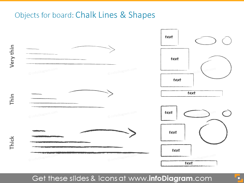 Example of chalk lines and shapes
