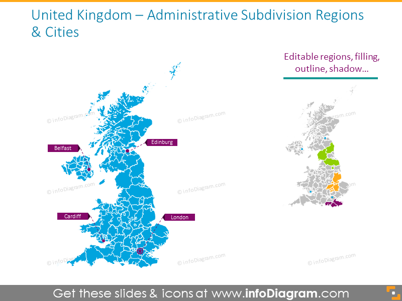 Administrative subdivision United Kingdom map