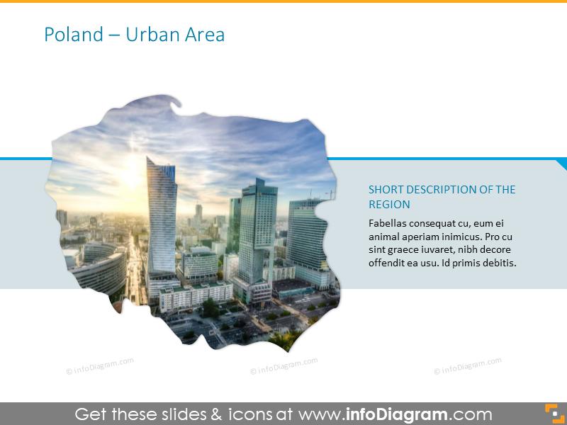 Poland urban area map
