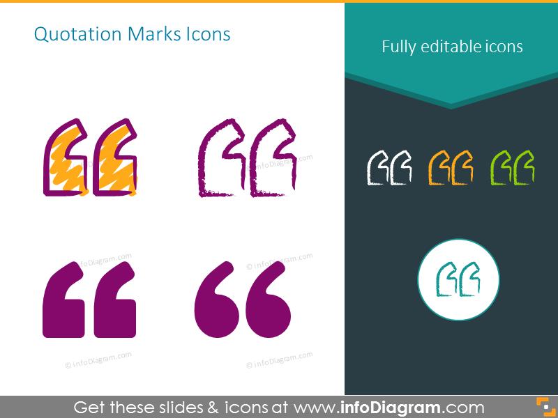 Quotation marks icons set