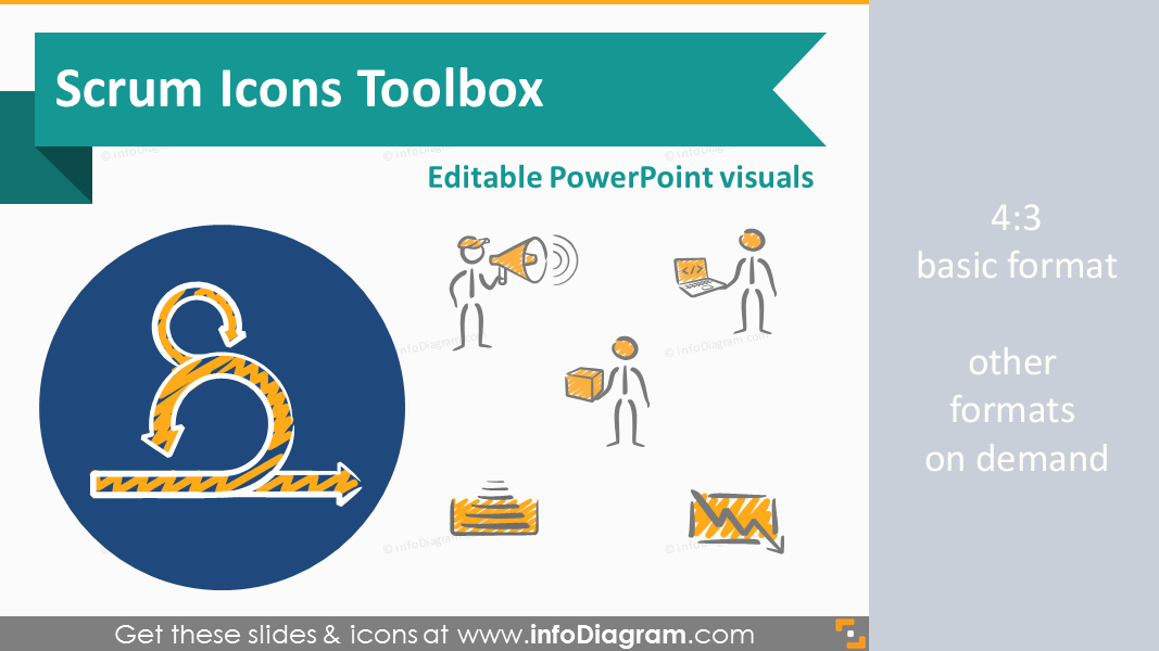 Professional Scrum Icon Toolbox Including 62 Slides