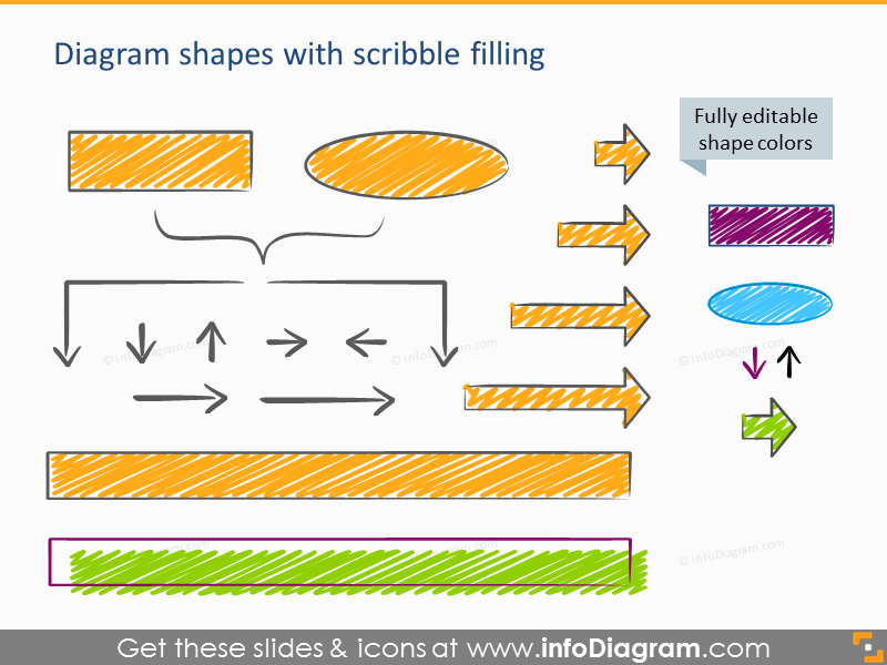 agile Scrum scribble diagram arrow icon powerpoint