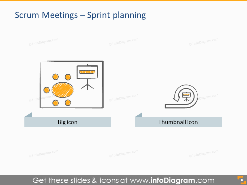 icon sprint planning scrum meeting