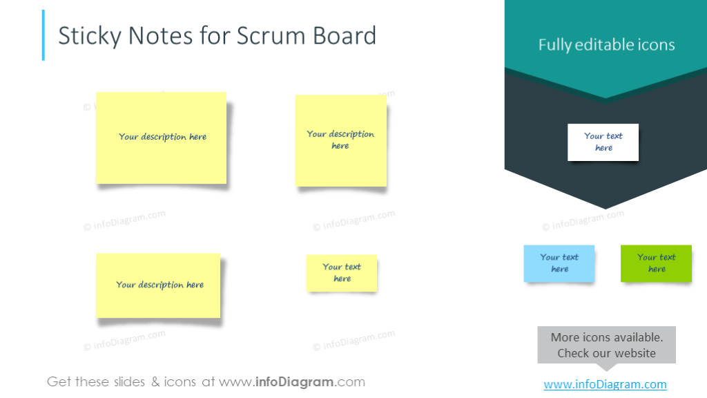 Sticky notes for sctum board