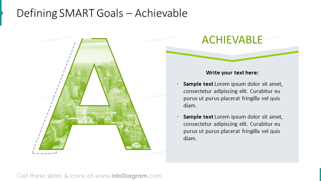 Defining SMART goals for presenting Achievable criteria