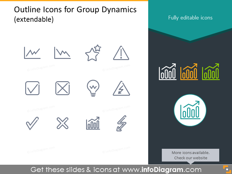 Outline Icons for SWOT analysis