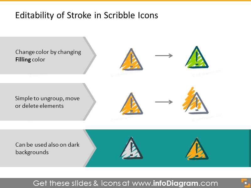 Editable scribble icons