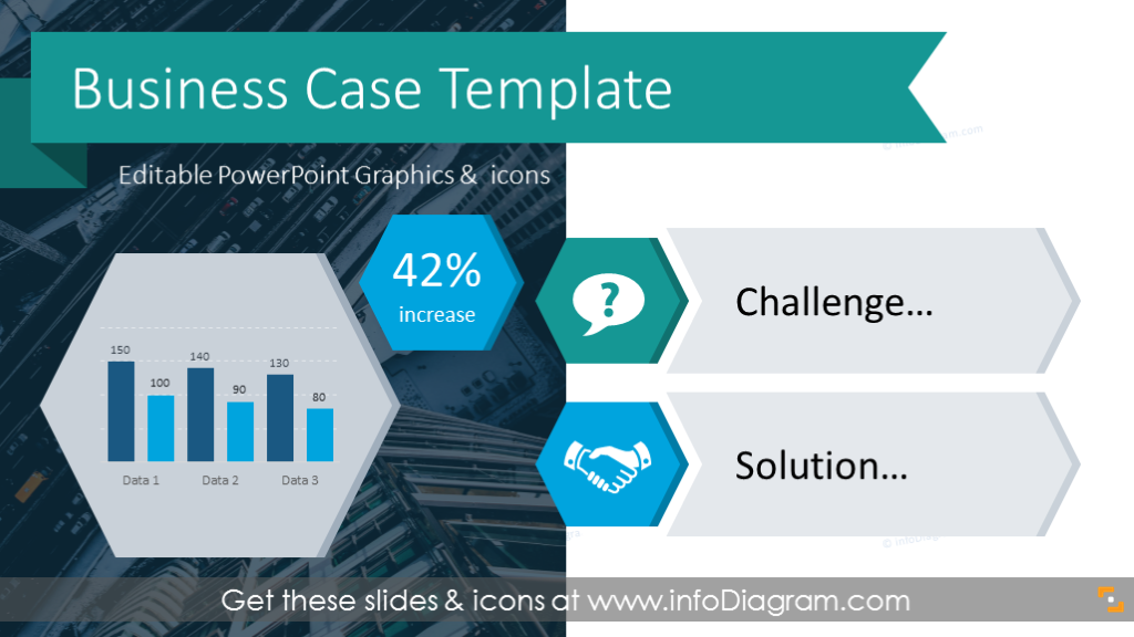 creative business case presentation template for