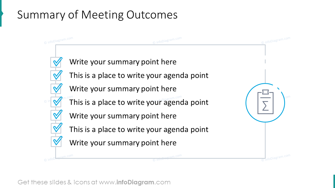 Summary of meeting outcomes
