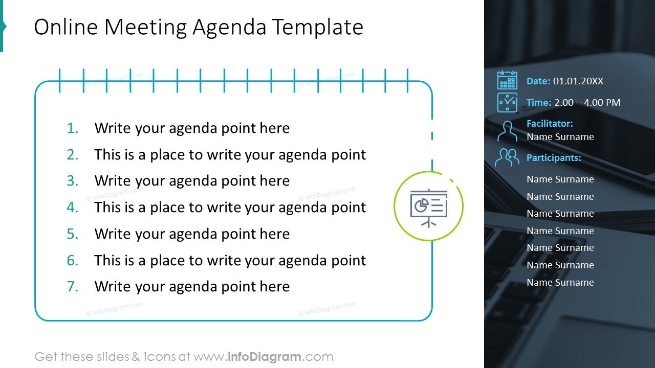 Online meeting agenda template