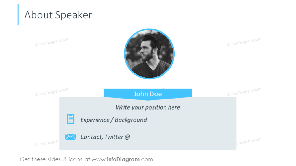 Information about the key speaker