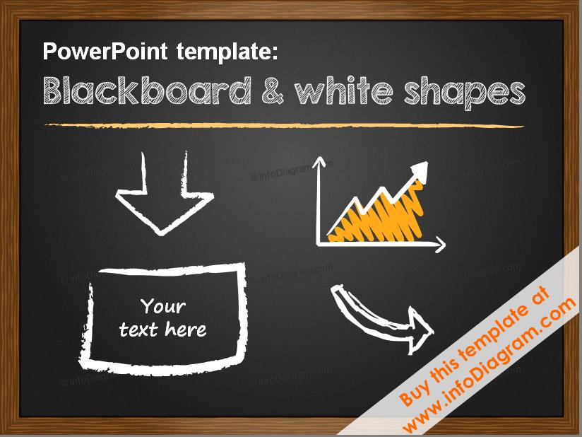Minimalistic Pptx Template 5 Slide Layouts Blackboard White Shapes