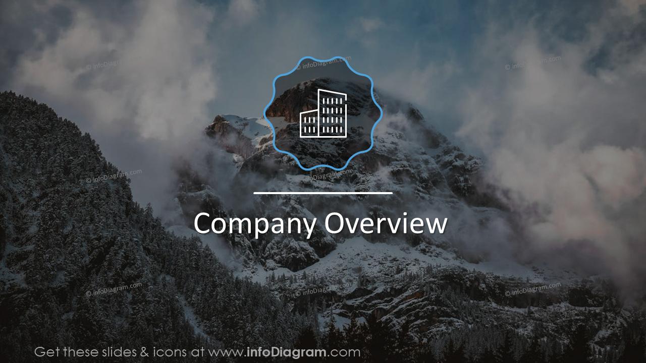Company overview design slide