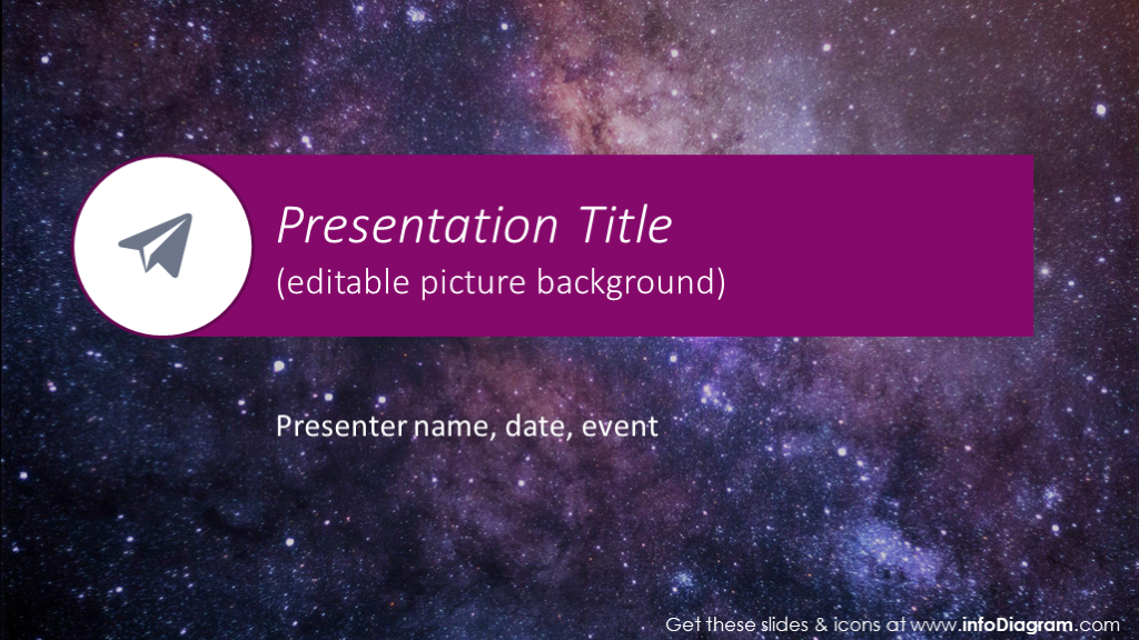 Purple Circle Presentation Template