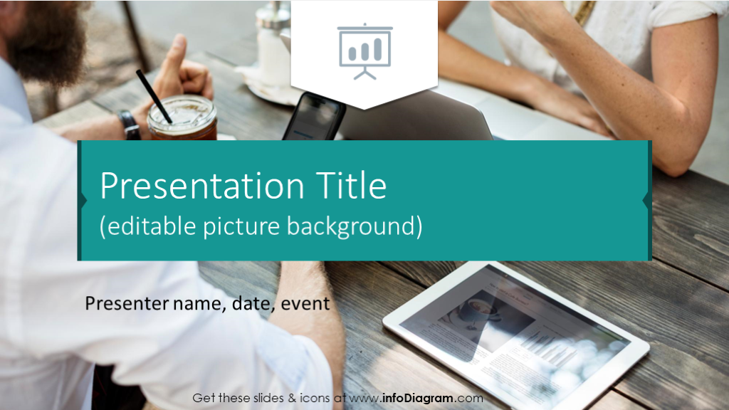 Presentation title with picture background