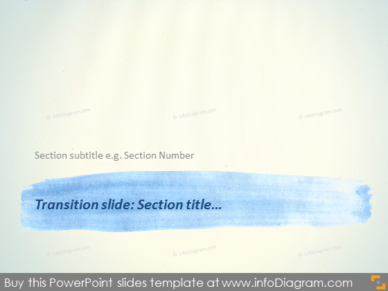 Transition Slide Layout Section Watercolor stripe Template PPTX