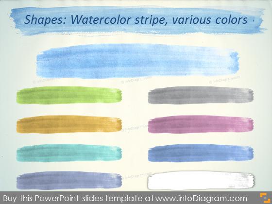 Water color title stripe slide SmartArt pptx template