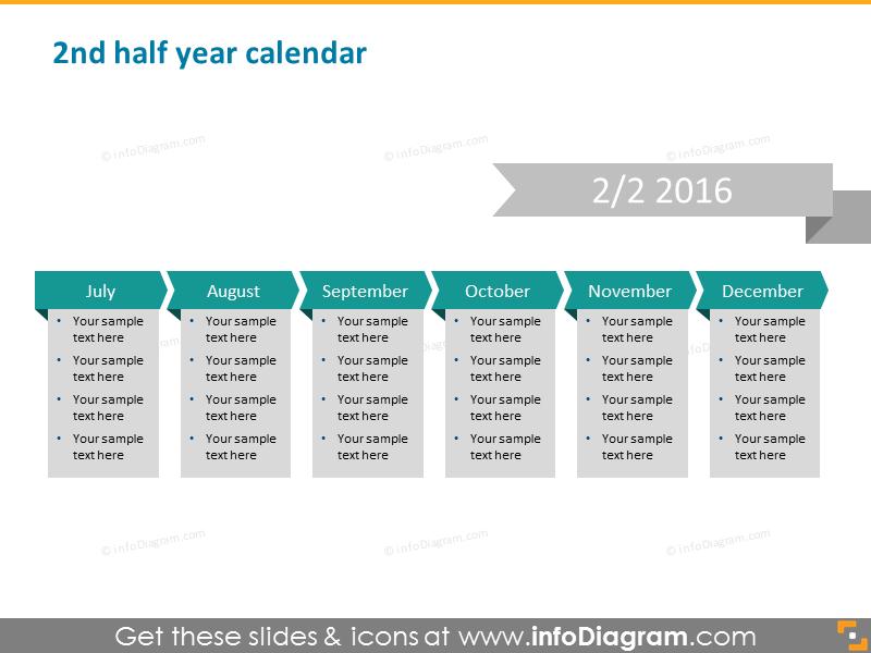 2nd half year calendar