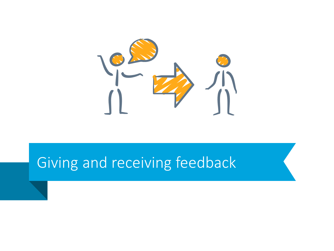 Giving receiving feedback powerpoint slide stripe