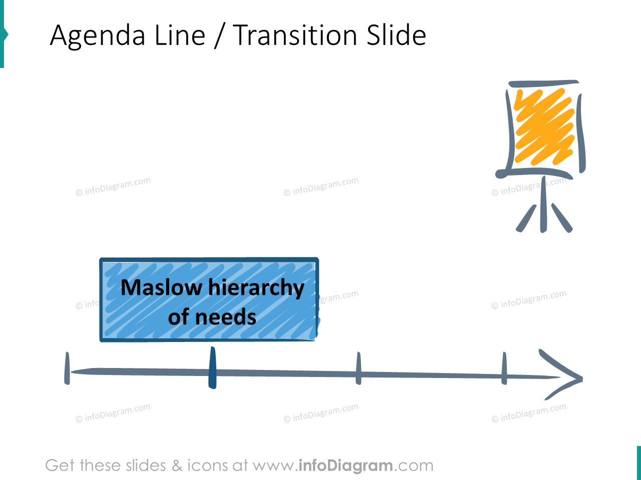 motivation training agenda transition slide maslow icons ppt clipart