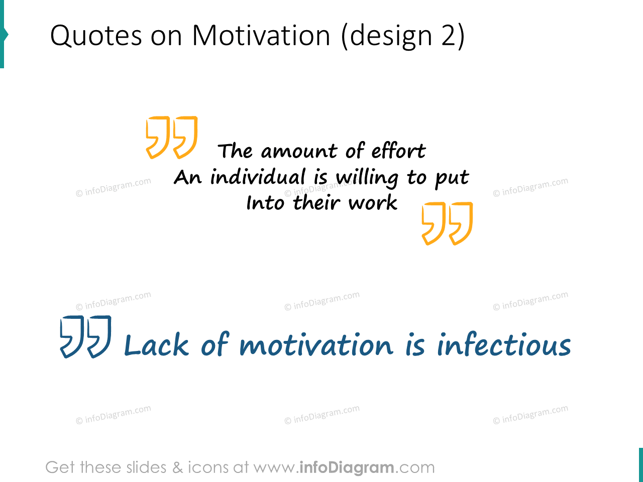 motivation quote quotation marks scribble icons ppt clipart