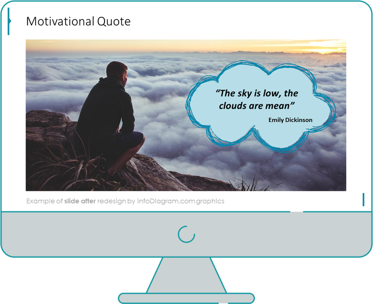 motivational quote slide after redesign in powerpoint by infodiagram