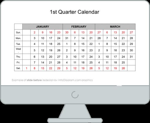 calendars us first quarter before redesign