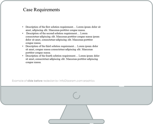 before redesign multiple solutions slide ppt