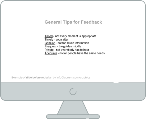 general tips for feedback slide before redesign in powerpoint