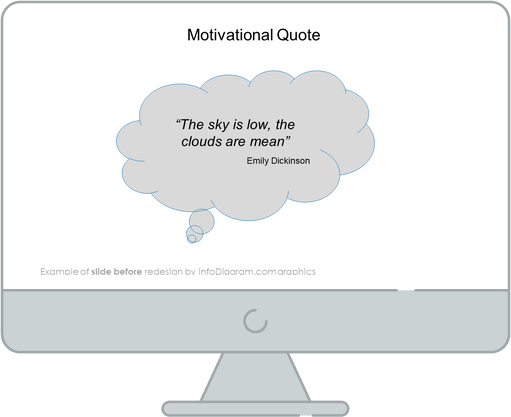 motivational quote slide before redesign in powerpoint by infodiagram