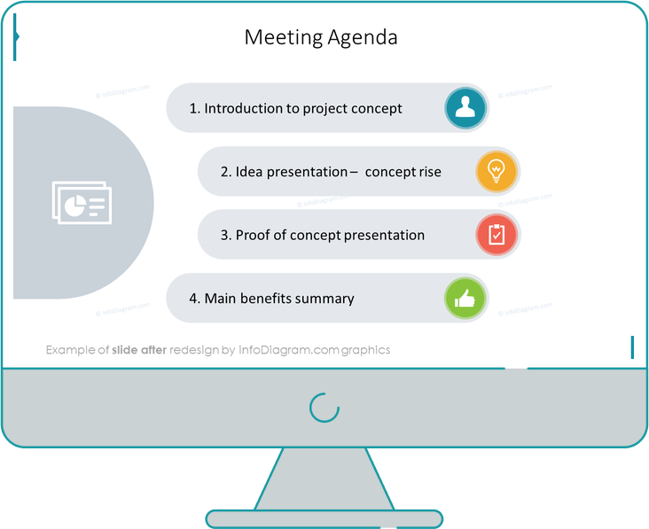 flat icons bundle example meeting agenda after