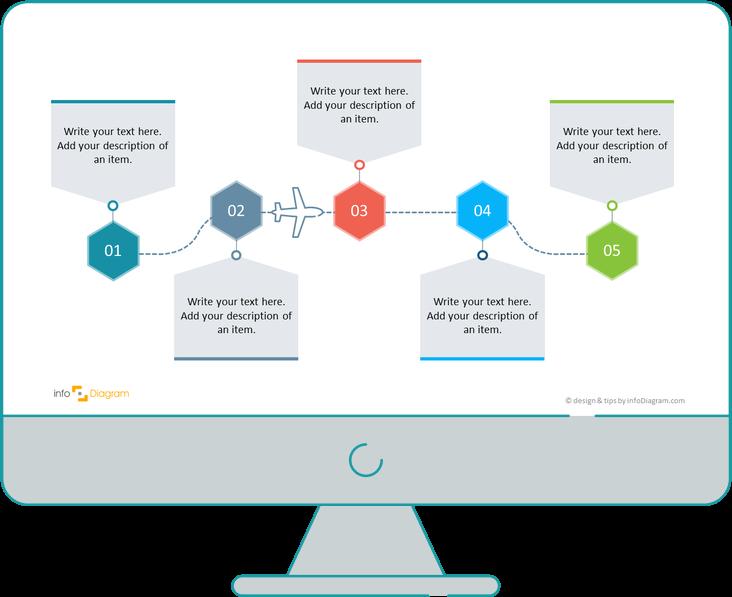 process steps diagram powerpoint slide